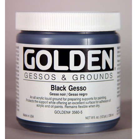 Golden Gesso Svart 237ml