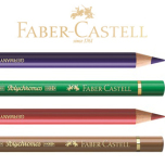 Polychromos set 120st träskrin Faber-Castell