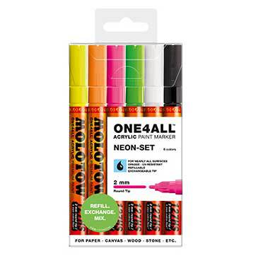 Molotow 2 neon set 6st 2mm