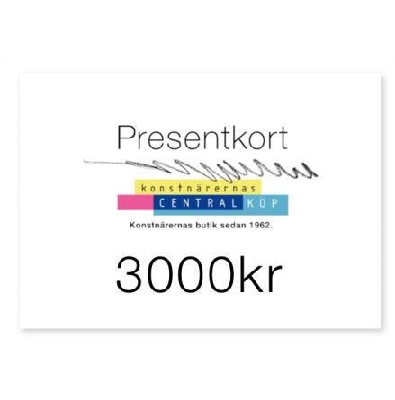 Presentkort 3000kr