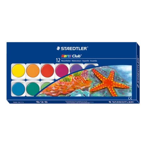 Täckfärgskakor Noris 12 färger i set