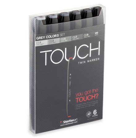 Touch Twin Marker Grey Colors set 6st