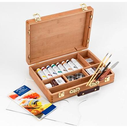 W&N Artist Bamboo Box oljefärgset
