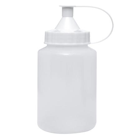 Plastflaska 250ml med pip, tom