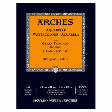 Akvarellblock Arches 300g 12 ark