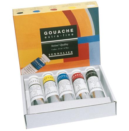 Sennelier Gouache Extra Fine set 5x21ml